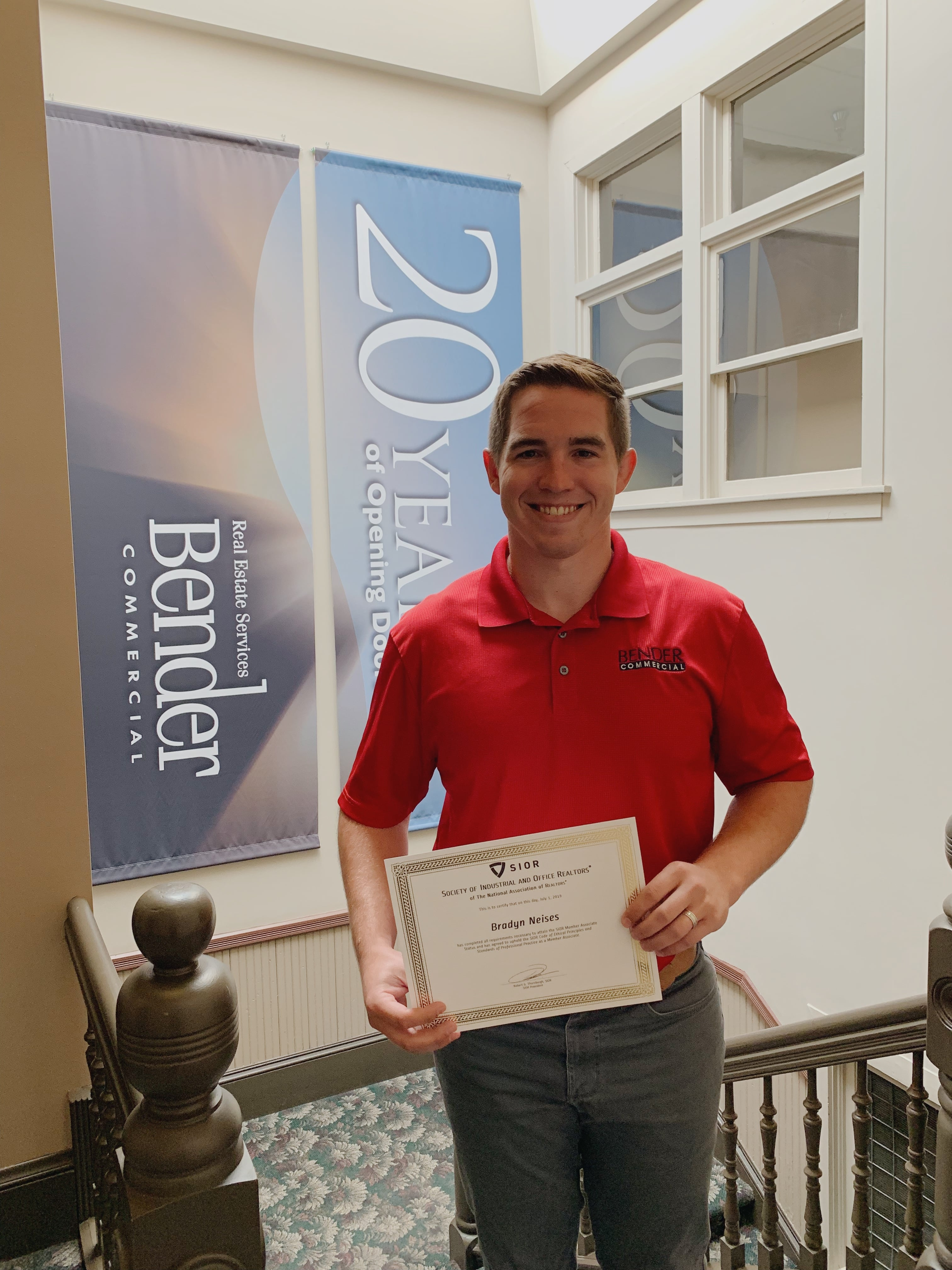 Neises with SIOR Associate Member Certificate